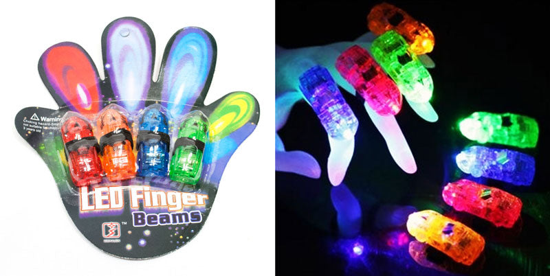 Flashing Light Up Finger Beam Rings - Dallas General Wholesale