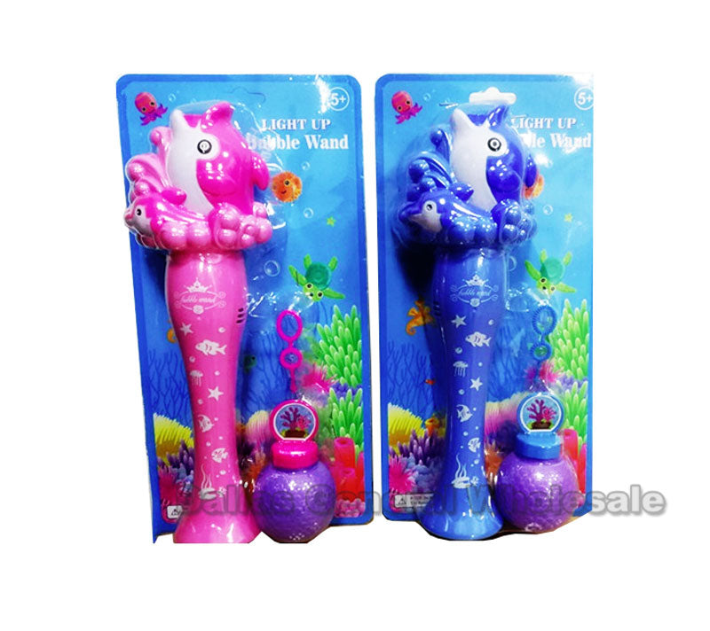 Light Up Dolphin Bubble Blower Wand Wholesale - Dallas General Wholesale