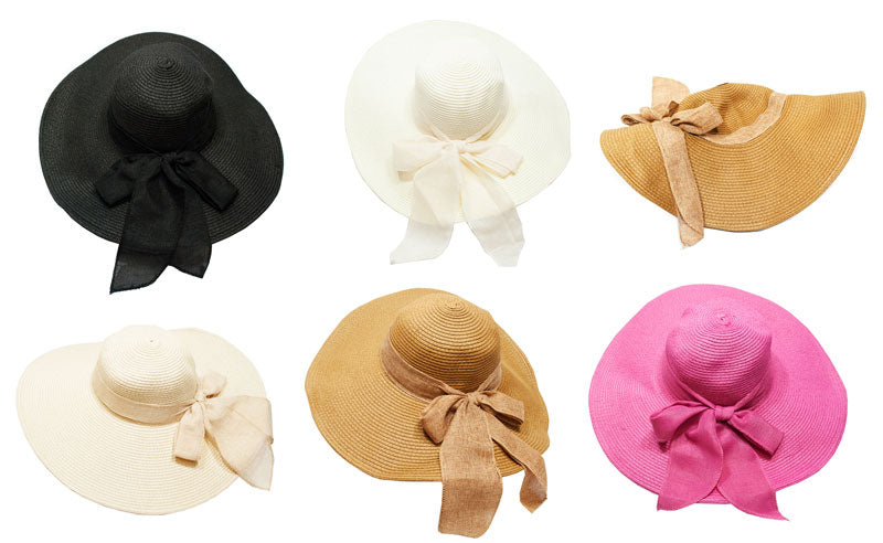 Floppy Wide Brim Straw Hats - Dallas General Wholesale