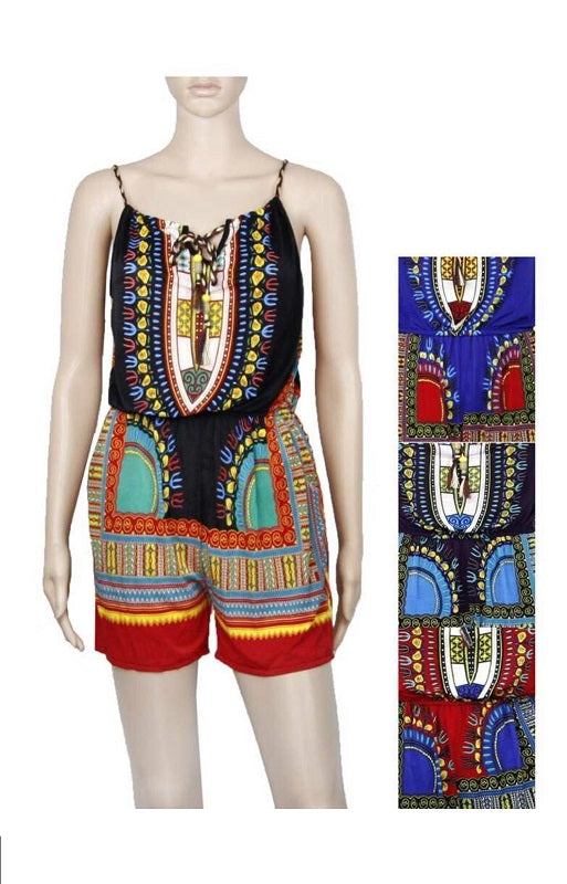 Dashiki Inspired Rompers Wholesale - Dallas General Wholesale