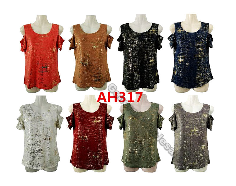 Ladies Open Shoulder T-Shirts Wholesale - Dallas General Wholesale