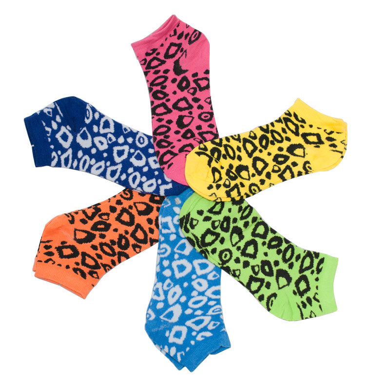 Cheetah Printed Ladies Funky Socks - Dallas General Wholesale