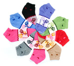 Girls Casual Ankle Socks with Flower Prints - Dallas General Wholesale