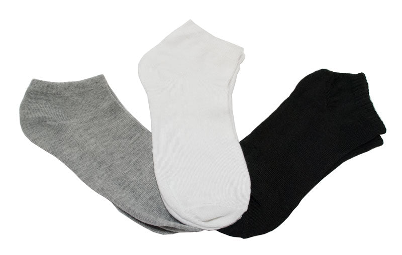 Ladies Solid Color No Show Sports Socks - Dallas General Wholesale
