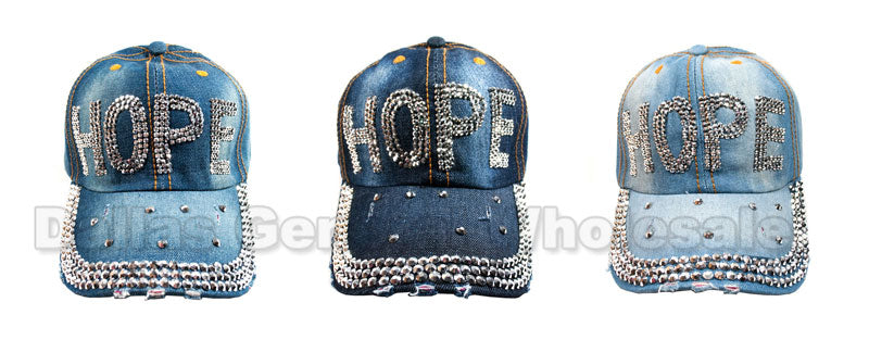 """HOPE"" Fashion Denim Caps Wholesale - Dallas General Wholesale"
