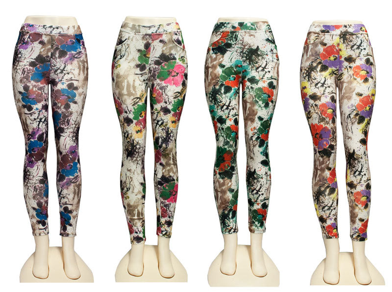 Ladies Printed Pull On Pants - Dallas General Wholesale