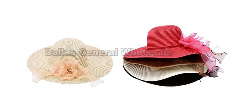 Floppy Straw Beach Hat or Church Dress Hats Wholesale - Dallas General Wholesale