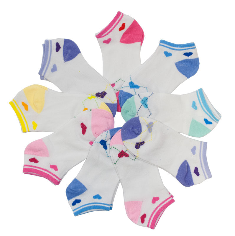 Little Girls Low Cut Casual Socks - Dallas General Wholesale