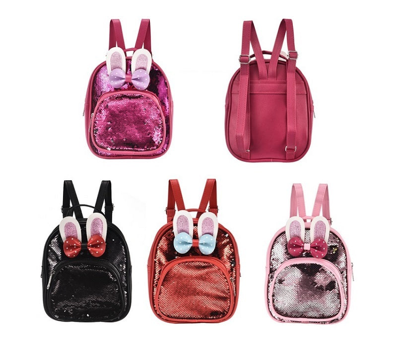 Girls Rabbit Sequins Backpacks Wholesale - Dallas General Wholesale