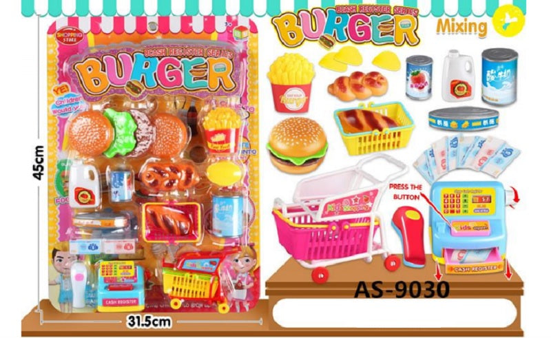 Toy Hamburger Shop Play Set Wholesale - Dallas General Wholesale
