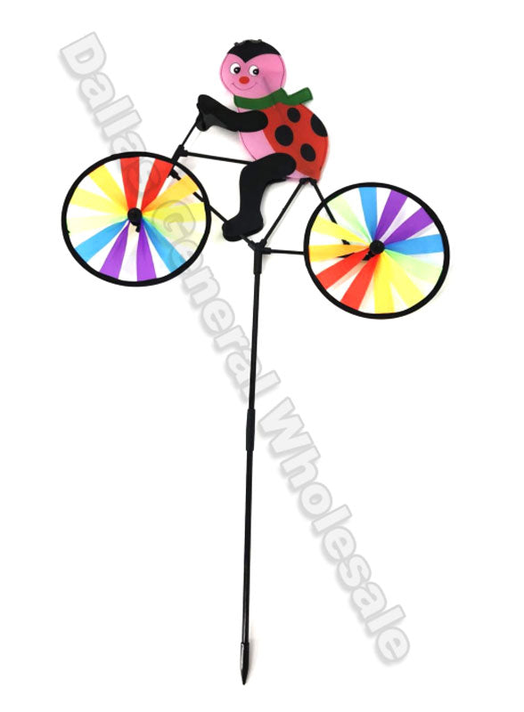 Ladybug with Bikes Windmills Wholesale - Dallas General Wholesale