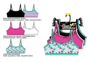15 PC Toddlers Bralettes & Underwear Set Wholesale - Dallas General Wholesale