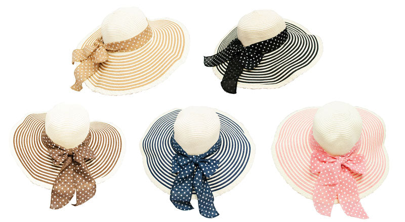 Women's Beach Floppy Straw Hats - Dallas General Wholesale