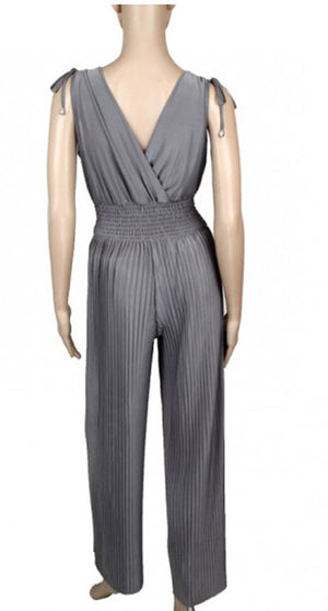 Solid Color Pleated Jumpsuits Wholesale - Dallas General Wholesale