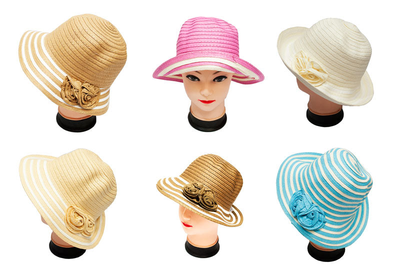 Women's Straw Formal Dress Hats Wholesale - Dallas General Wholesale
