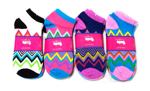 Womens Chevron No Show Socks - Dallas General Wholesale