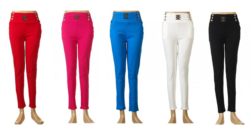 Solid Color Pants P94 - Dallas General Wholesale