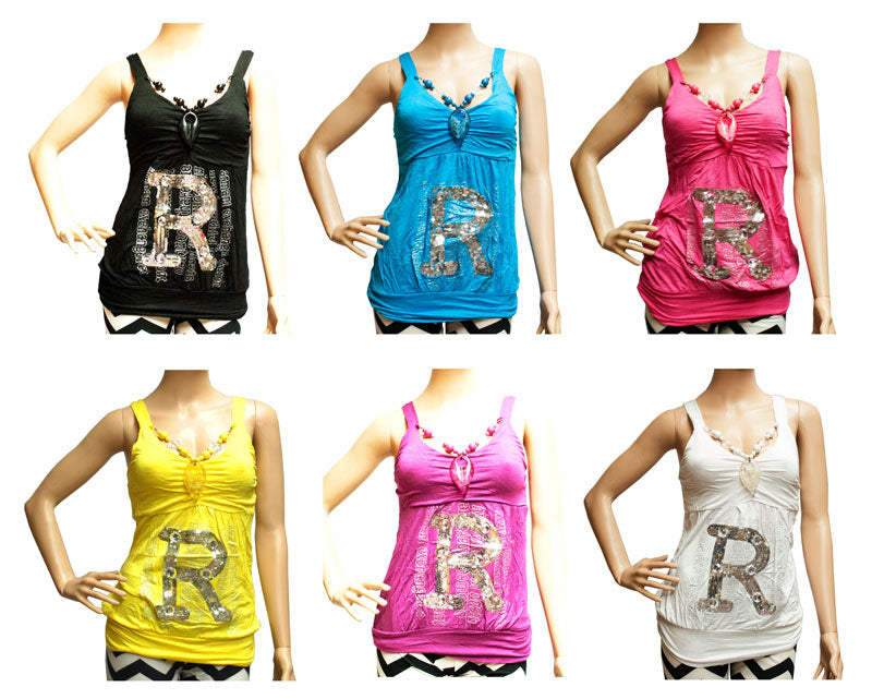"""R"" for Romance Initial Fashion Blouses - Dallas General Wholesale"