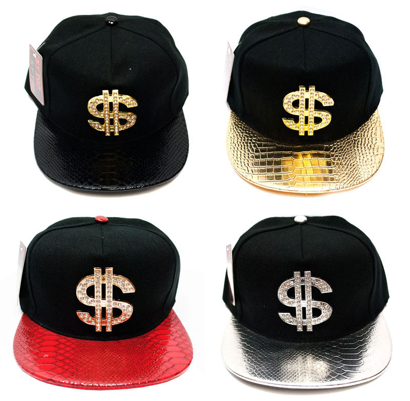 """Dollar Sign"" Trendy Snap Back Caps Wholesale - Dallas General Wholesale"