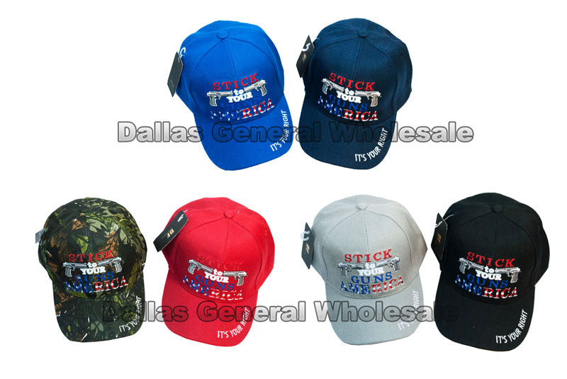 """Stick to Your Guns"" Casual Baseball Caps - Dallas General Wholesale"