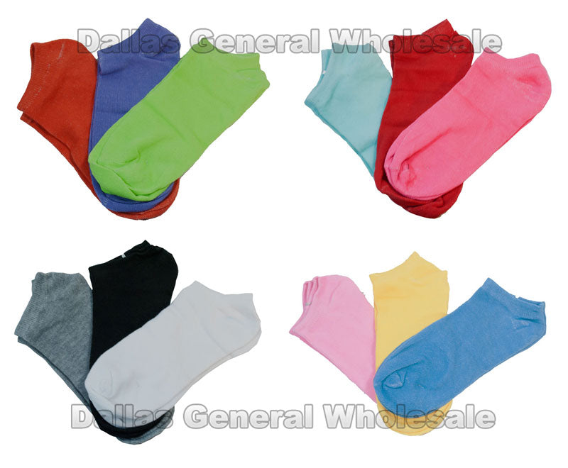 12- Color Solid Color Socks Wholesale - Dallas General Wholesale