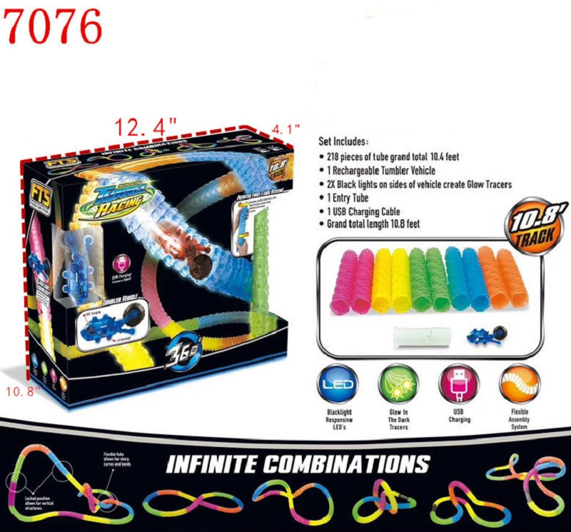 Glow In Dark Tube Tracks Wholesale - Dallas General Wholesale