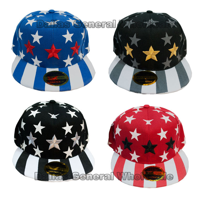"""Triple Stars"" Casual Baseball Caps Wholesale - Dallas General Wholesale"