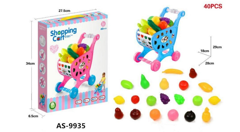 9935 Toy Fruits Shopping Cart Wholesale - Dallas General Wholesale