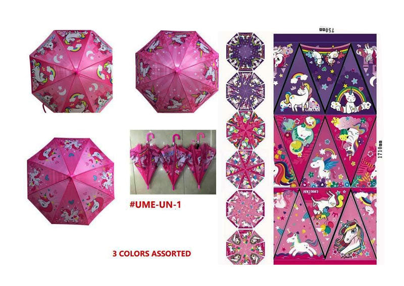 Unicorn Printed Kids Umbrellas Wholesale - Dallas General Wholesale