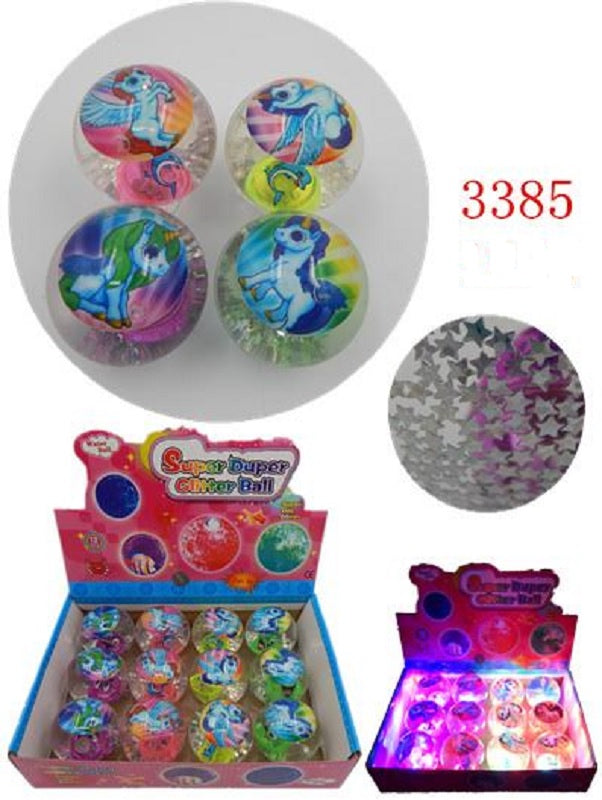 Glitter Unicorn Bounce Balls Wholesale - Dallas General Wholesale