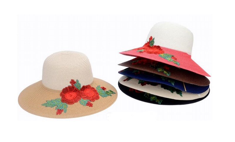 Ladies Flower Straw Hats Wholesale - Dallas General Wholesale