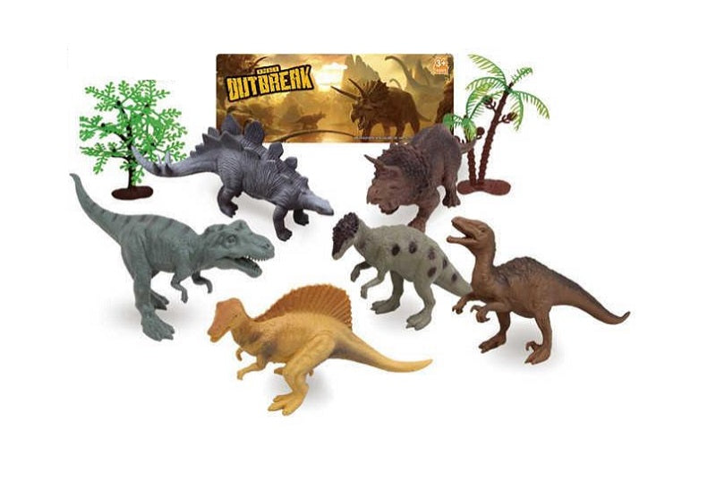 8 PC Miniature Dinosaurs Play Set Wholesale - Dallas General Wholesale