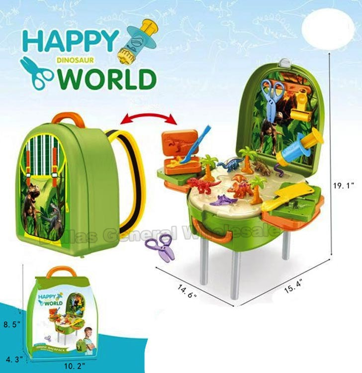 Toy Dinosaur 2-in-1 Backpack & Caring Stand Wholesale - Dallas General Wholesale