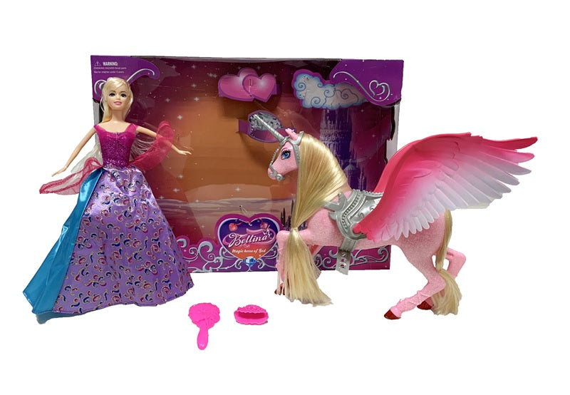 Princess with Unicorn Play Set Wholesale - Dallas General Wholesale