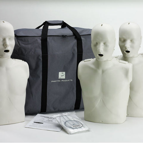 Prestan Professional Adult CPR/AED Training Manikin with CPR Monitor [4 Pack]