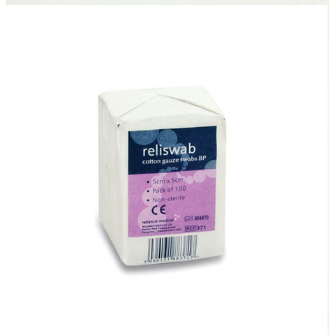 Reliswab Cotton Gauze Swab [Pack of 100]