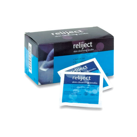 Reliject Skin Cleansing Swabs [Box of 100]