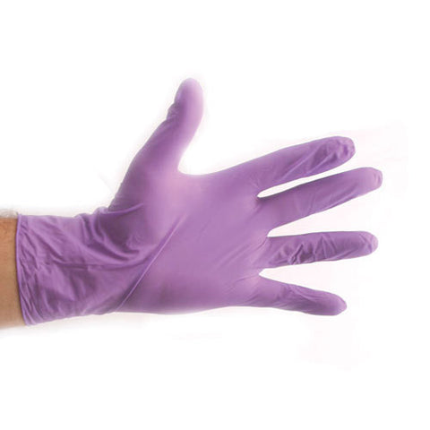 SafeSkin Purple Nitrile Exam. Gloves [PF]