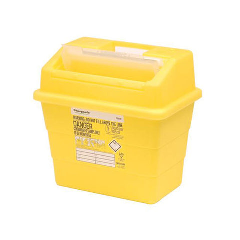 Sharpsafe Sharps Container [Yellow, Protected Access]