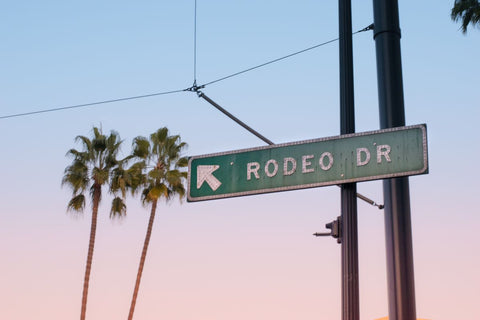 Rodeo Drive street sign in LA