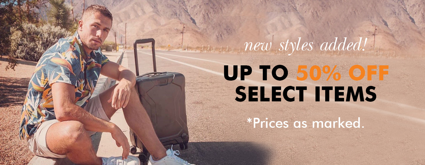 Luggage On Sale NEW STYLES ADDED! UP TO 50% OFF SELECT ITEMS *Prices as marked!