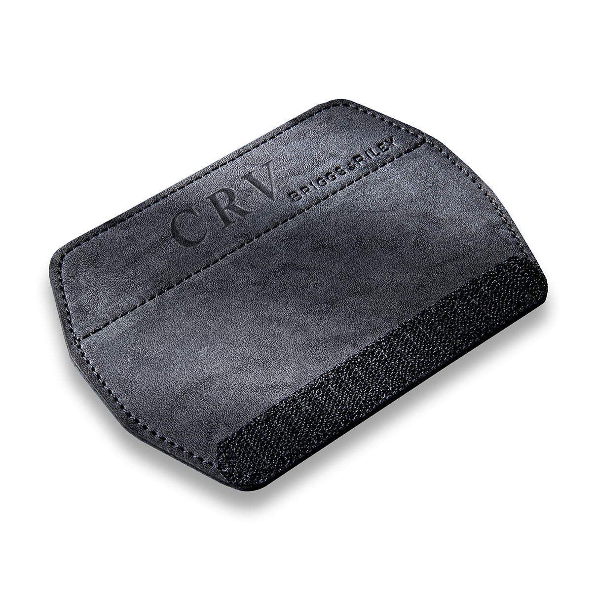 Black Synthetic Suede Top Carry Handle Wrap
