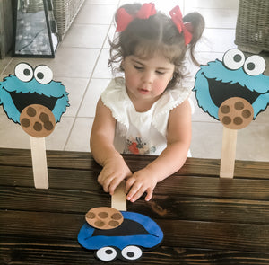 Cookie Monster Craft for Chocolate Chip Cookie Day