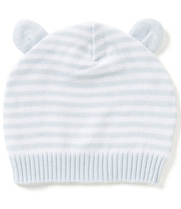 Stripe Knit Hat with Ears