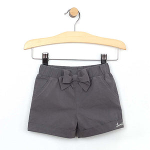 Charcoal Cuffed Short - Little Owly