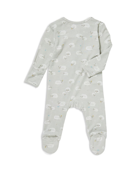 Sheep Zip-Front Footie Pajamas - Little Owly