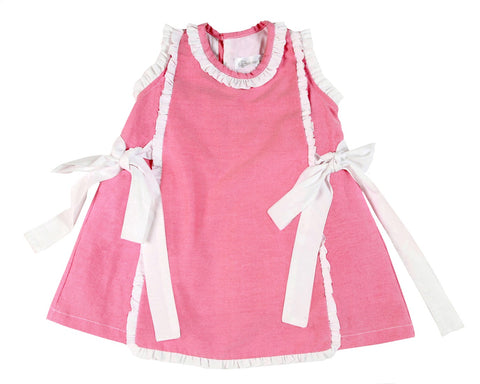 Apron Dress with Bows - Little Owly