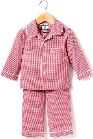 Red Mini Gingham Pajamas - Little Owly