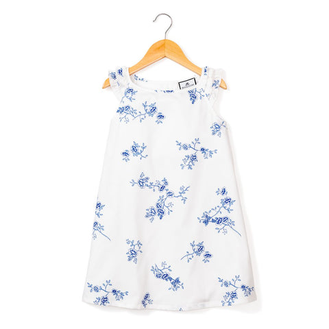 Indigo Floral Amelie Nightgown - Little Owly