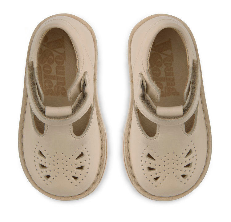Poppy Baby Leather T-Bar Shoes - Little Owly